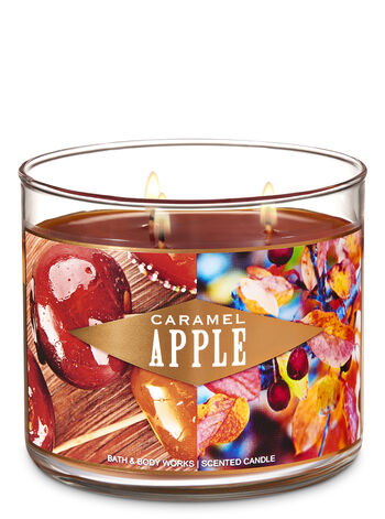 Bath & Body Works - 3-Wick Candle, Caramel Apple