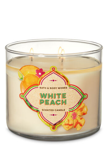Bath and Body Works - White Peach 3-Wick Candle