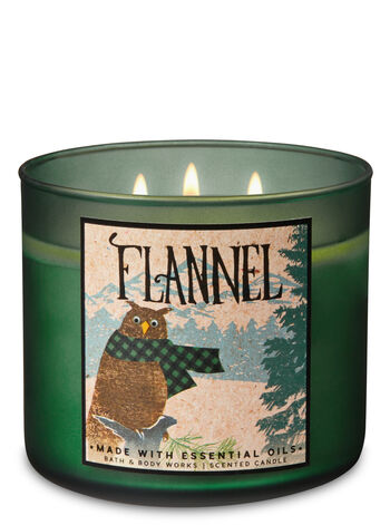 null - Flannel 3-Wick Candle