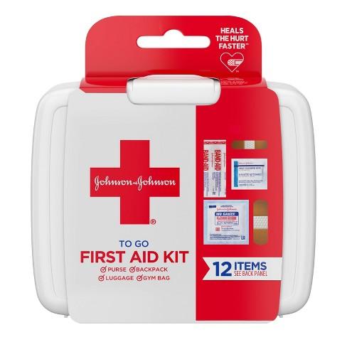 Johnson & Johnson - Johnson & Johnson First Aid To Go! Portable Mini Travel Kit - 12pc