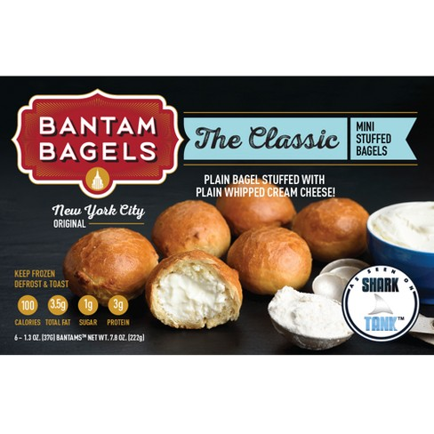 null - Bantam Bagels The Classic New York City Original Frozen Mini Stuffed Bagels - 7.8oz