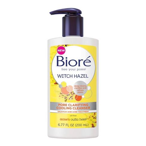 Biore - Biore Witch Hazel Pore Clarifying Cooling Cleanser - 6.77 fl oz