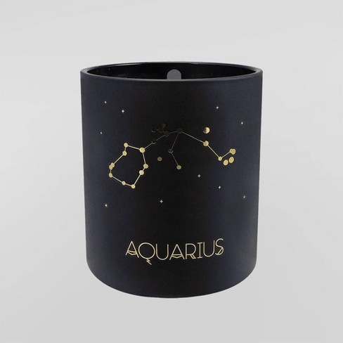 null - 7.8oz Astrological Glass Jar Candle Aquarius - Project 62™