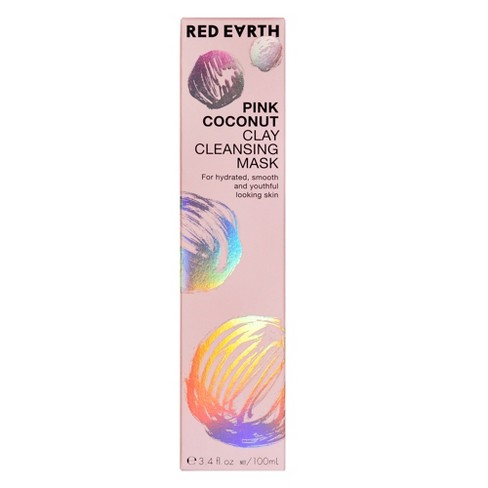 Red Earth Pink Coconut Clay Cleansing Face Mask - 3.4oz