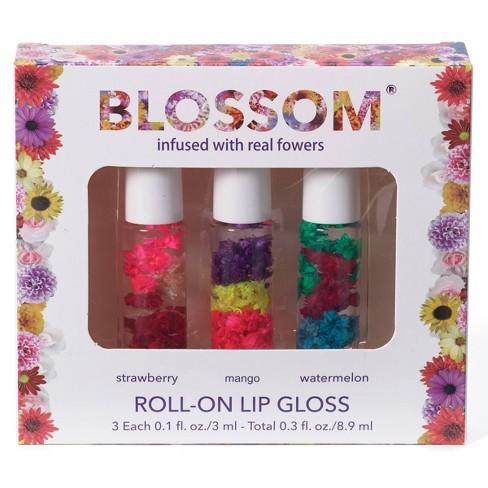 null - Blossom Roll-On Lip Gloss - 3pk