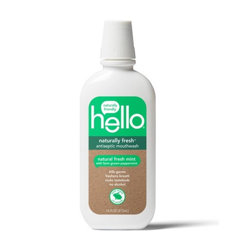 Hello Oral Care Naturally Fresh Antiseptic Mouthwash
