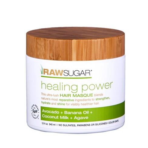 Raw Sugar Healing Power Avocado + Banana Oil + Coconut Milk + Agave Hair Masque - 12 fl oz