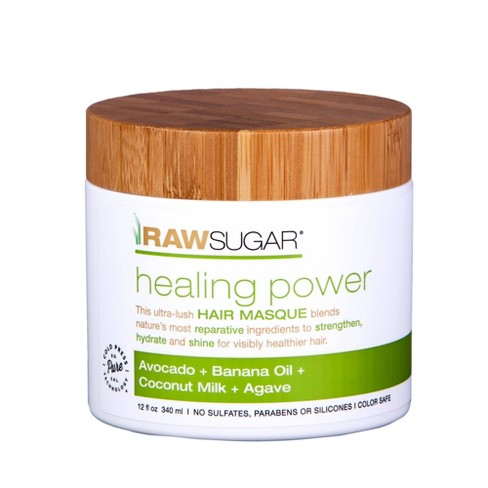 null - Raw Sugar Healing Power Avocado + Banana Oil + Coconut Milk + Agave Hair Masque - 12 fl oz