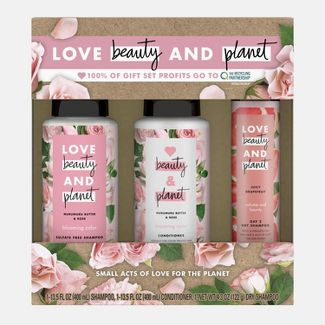 null - Love Beauty And Planet Muru Muru Rose Shampoo + Conditioner and Dry Shampoo Gift Pack