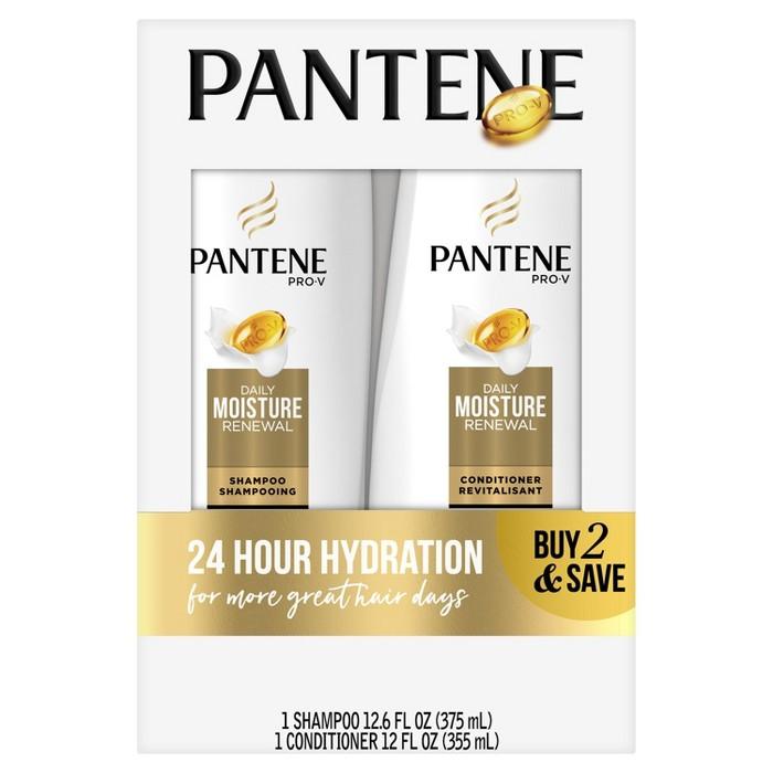 Pantene - Pantene Pro-V Daily Moisture Renewal Shampoo and Conditioner Bundle - 24.6 fl oz