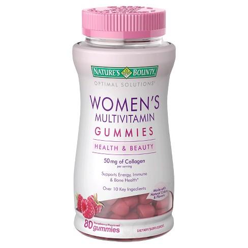 null - Optimal Solutions Women's Multivitamin Gummies - Raspberry - 80ct