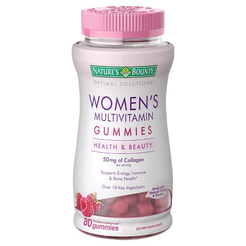 null - Optimal Solutions Women's Multivitamin Gummies - Raspberry - 80ct