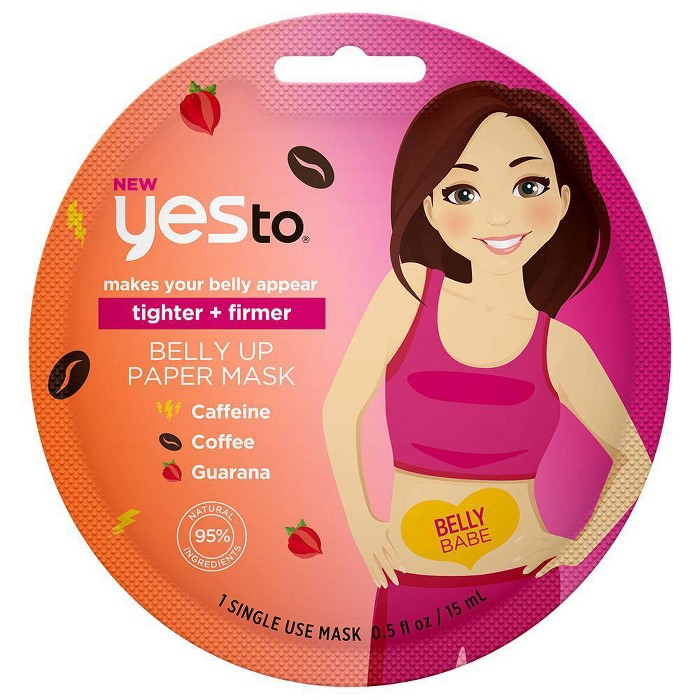 Yes To - Yes To Tighter + Firmer Belly Up Paper Mask - 1ct/0.5 fl oz