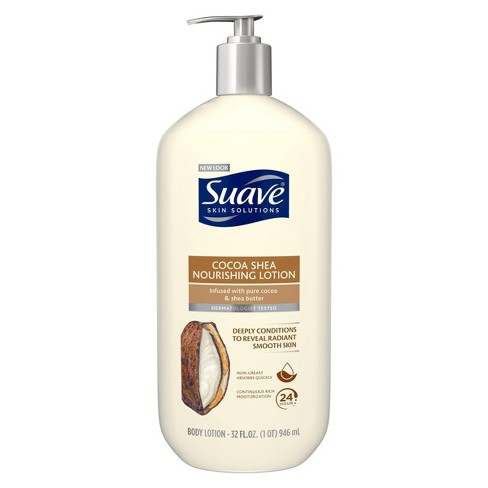 null - Suave Smoothing with Cocoa Butter and Shea Body Lotion 32 oz