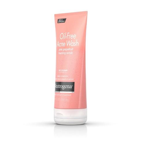 Neutrogena - Neutrogena Oil-Free Acne Wash Pink Grapefruit Foaming Scrub - 6.7oz