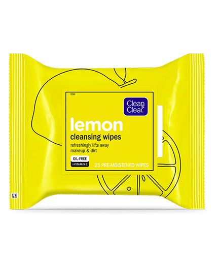 CLEAN & CLEAR CLEAN & CLEAR Lemon Cleansing Wipes, 25 Count
