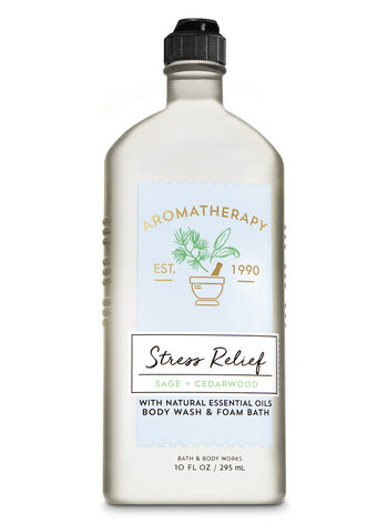 Aromatherapy Sage Cedarwood Body Wash & Foam Bath