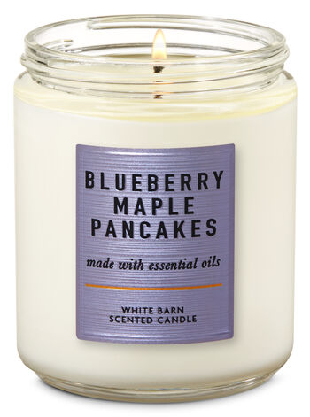 null - Blueberry Maple Pancakes Single Wick Candle