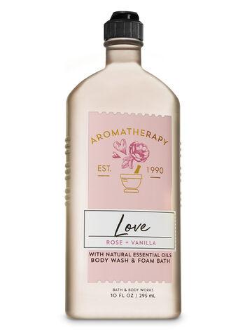 null - Aromatherapy Rose Vanilla Body Wash & Foam Bath