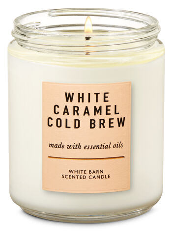 null - White Caramel Cold Brew Single Wick Candle