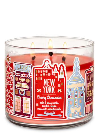 Bath and Body Works - Cherry Cheesecake 3-Wick Candle