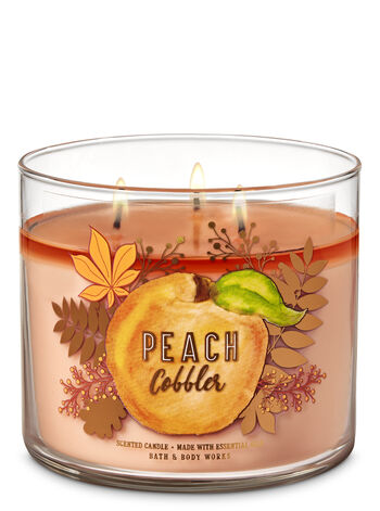 null - Peach Cobbler 3-Wick Candle