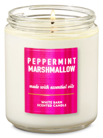 null - White Barn Peppermint Marshmallow Single Wick Candle