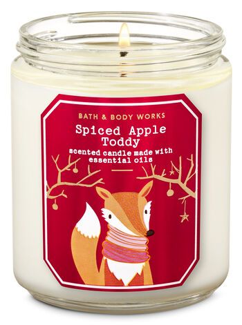 Bath and Body Works - Spiced Apple Toddy Single Wick Candle