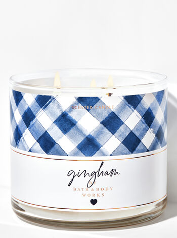 null - Gingham 3-Wick Candle