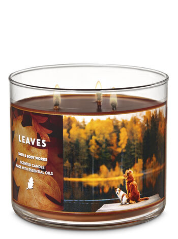 Bath and Body Works - Leaves 3-Wick Candle