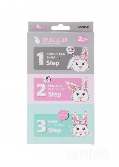 Little rabbit nose pores stripes 3-step kit