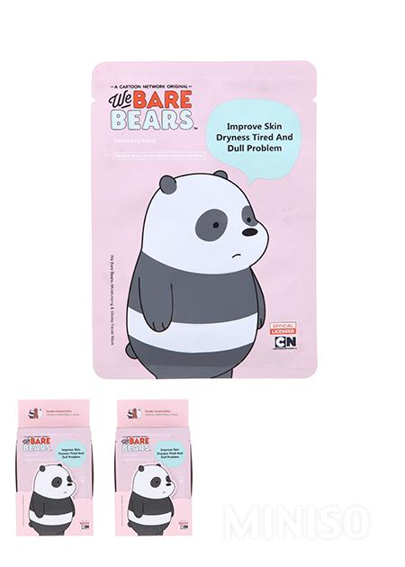 null - We Bare Bears Moisturizing Glossy Facial Mask