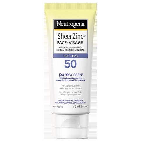 Neutrogena - Sheer Zinc Face SPF Moisturizer