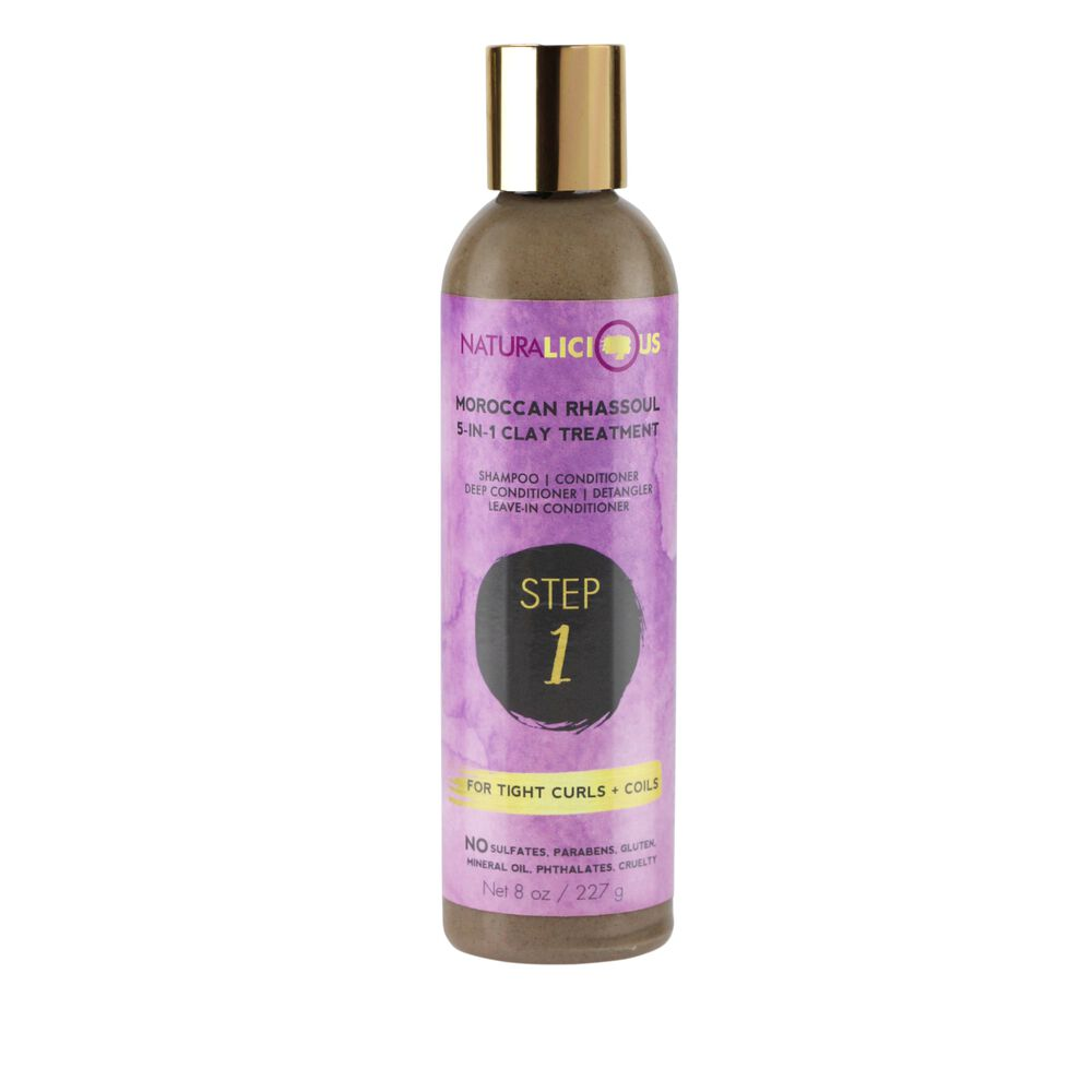 Naturalicious - Moroccan Rhassoul 5 in 1 Clay Treatment For Tight Curls & Coils