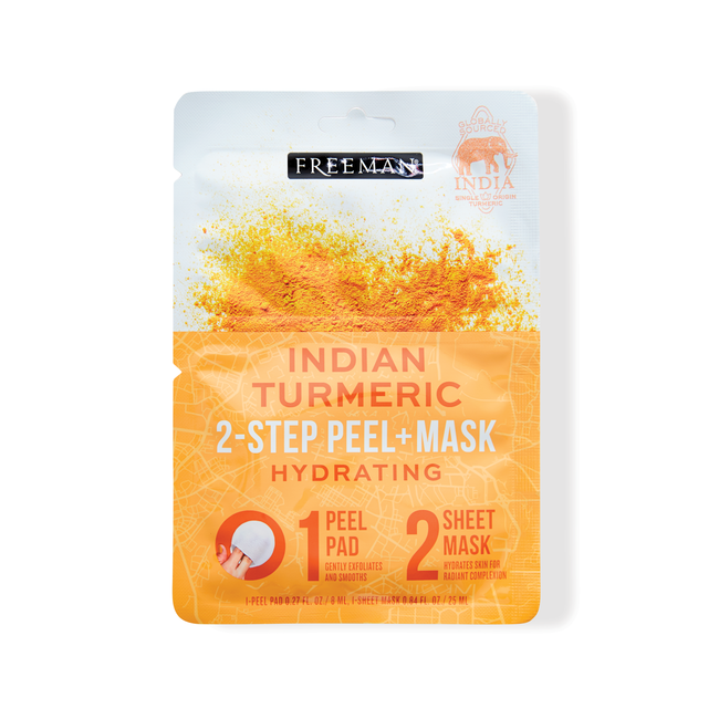 null - 2-Step Peel Pad + Sheet Mask Indian Turmeric