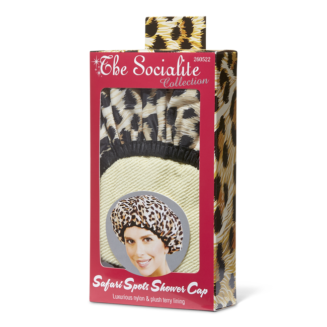 Betty Dain - Socialite Safari Spots Shower Cap