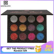 null - SEPROFE Brand 24 Colors Eyeshadow Pallete Diamond Glitter Powder Foiled Matte Eye Shadow Palette Single Makeup Set for Beauty