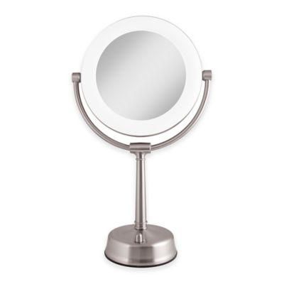 Zadro - Zadro™ 1X/10X Fluorescent Sunlight Vanity Mirror in Satin Nickel