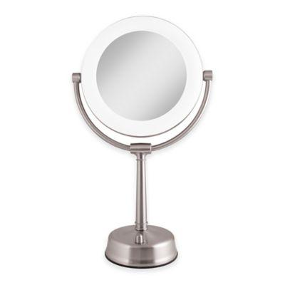 Zadro - Zadro™ 1X/10X Fluorescent Sunlight Vanity Mirror in Satin Nickel