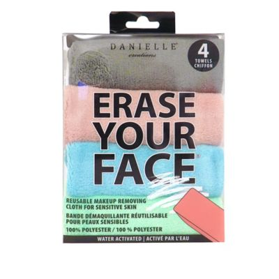 null - Erase Your Face 4-Pack Reusable Makeup Removing Cloth for Sensitive Skin