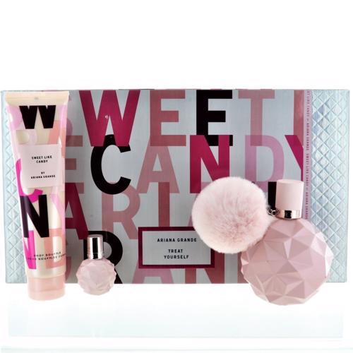 null - Sweet Like Candy SWEET LIKE CANDY by Ariana Grande 3 PIECE GIFT SET - 3.4 OZ EAU DE PARFUM SPRAY