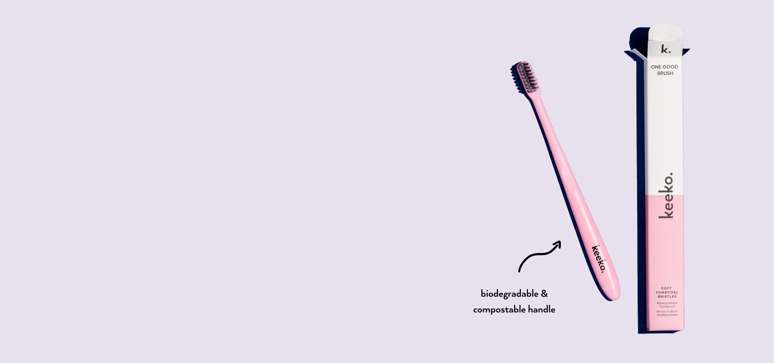 Keeko - One Good Brush - Biodegradable Toothbrush