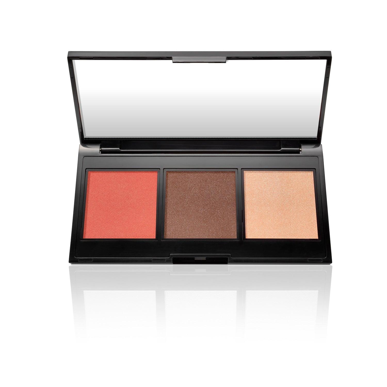 null - Multitasking Eye, Lip, Cheek Palette Cream to Powder Trio, Shades of Nudes