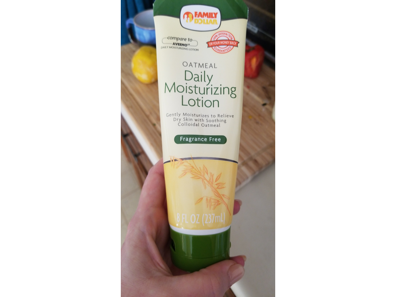 Family Dollar - Family Dollar Oatmeal Daily Moisturizing Lotion, Fragrance Free, 8 fl oz