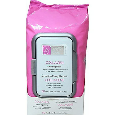 Walmart.com - Global Beauty Care Premium Collagen Cleansing Cloths