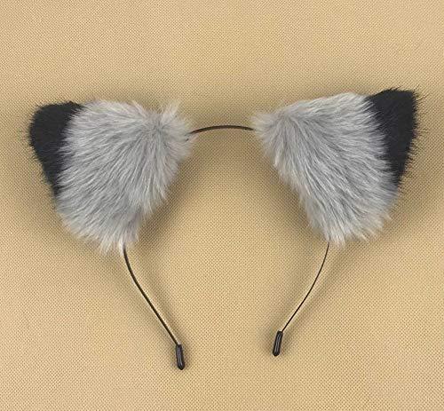 happylifehere - Long Fur Cat Fox Ears Headband
