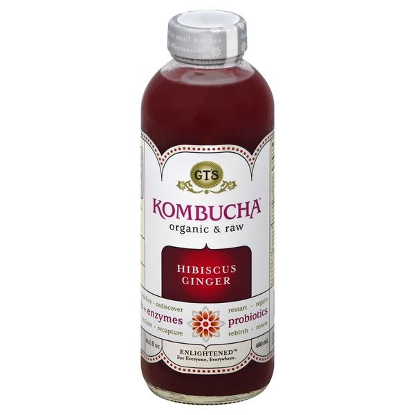 null - GT's Organic Kombucha Hibiscus Ginger