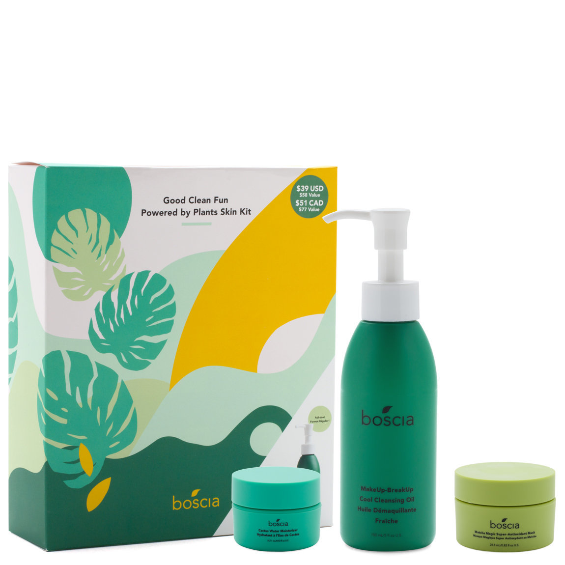 boscia - Good Clean Fun - Powered By Plants Skin Kit