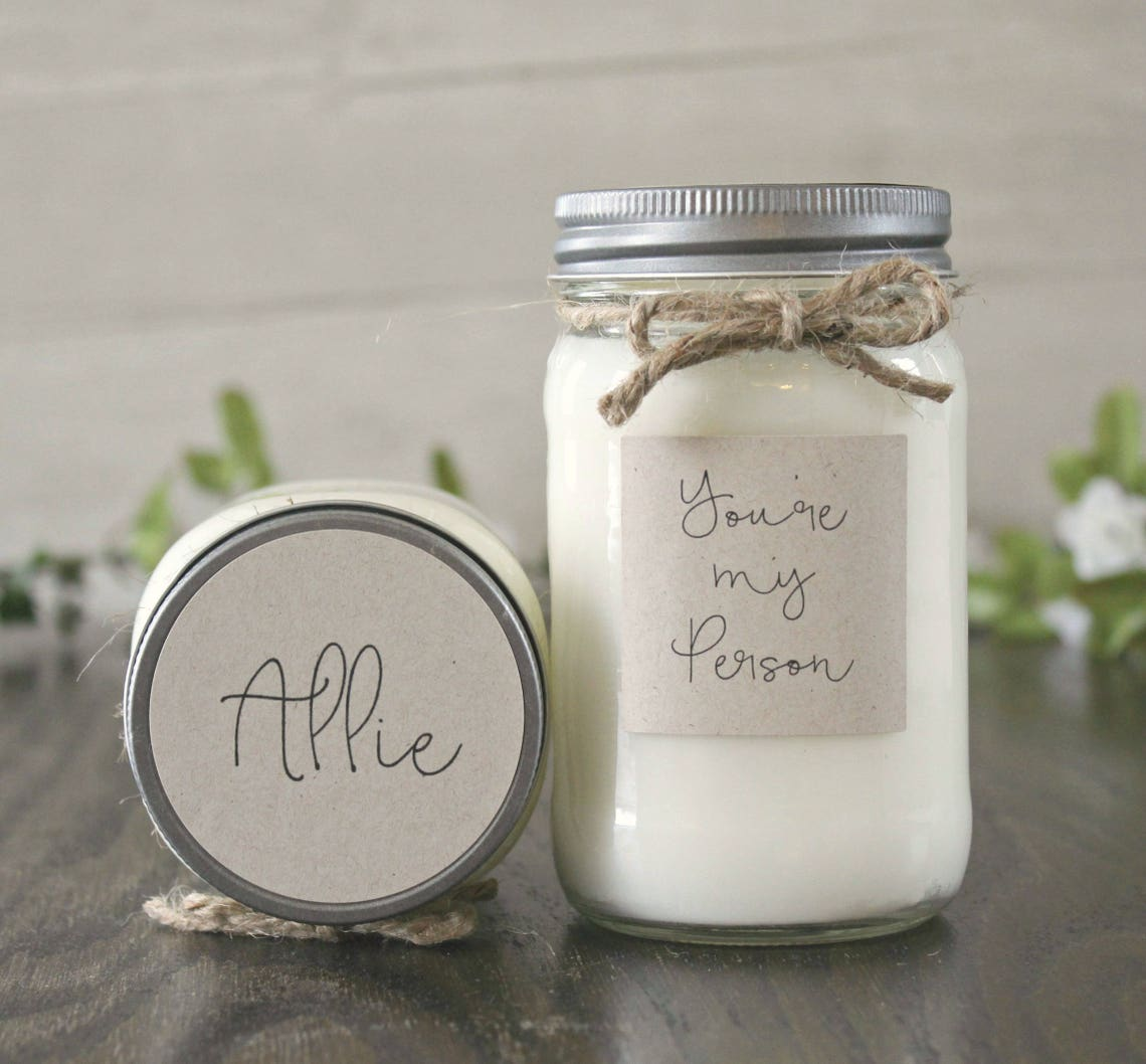 The Dancing Wick - You're My Person, Personalized Soy Candle