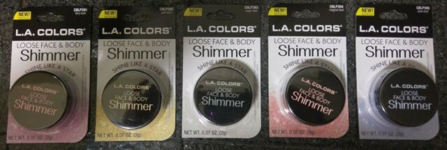 null - NEW L.A. COLORS LOOSE FACE & BODY SHIMMER - 5 COLORS - YOU CHOOSE - FREE SHIP